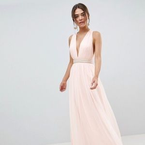 ASOS tulle maxi dress with embellished waist